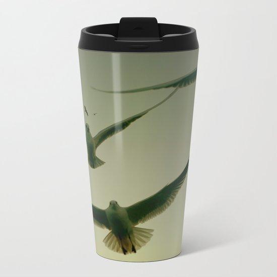 Green Hitchcock Metal Travel Mug