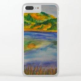 Autumn Grasses Clear iPhone Case