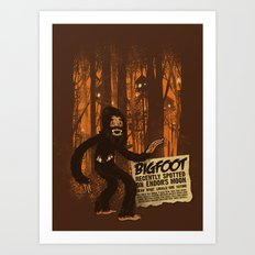 Bigfoot spotted on… Art Print