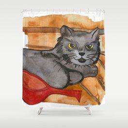 Cat in the Sauna Shower Curtain