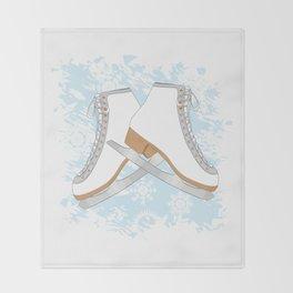Ice skates Throw Blanket