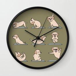 Labrador Retriever Yoga Wall Clock