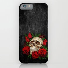 Floral Flower Skull Slim Case iPhone 6s
