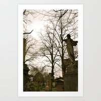 brompton Art Prints featuring West Brompton Cemetary in London by Beeobe