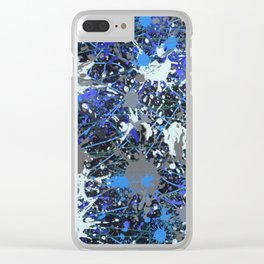 Action Painting No 42 By Chad Paschke Clear iPhone Case