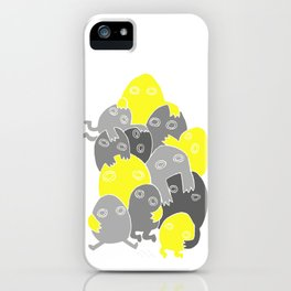 Lumps (Yellow & Grey) iPhone Case