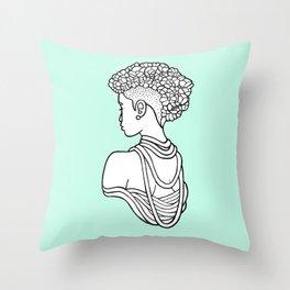 Flower Crown Throw Pillow