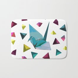 Origami carnival Bath Mat