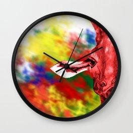 Oblivious Giraffe Wall Clock