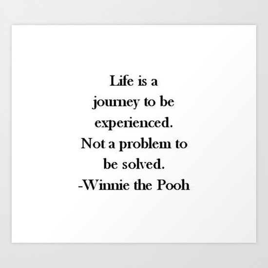 Winnie the Pooh Quote Art Print