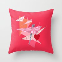 valentines Throw Pillows featuring Valentines Abstract by secretgardenphotography [Nicola]