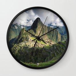 Machu Picchu, Peru Wall Clock