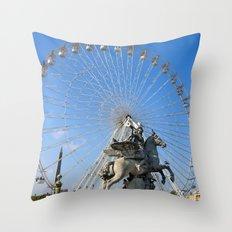 The Big Wheel Throw Pillow