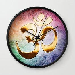 Om Mani Padme Om Wall Clock