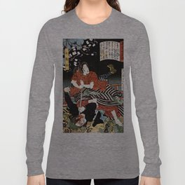 The Woman Kansuke Slaying an Assailant with a Sword Long Sleeve T-shirt
