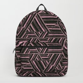Abstract striped pattern. 2 Backpack