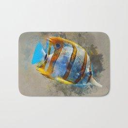 Copperband Butterfly Marine Fish Bath Mat
