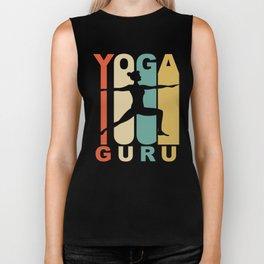 Vintage Style Yoga Guru Warrior Two Yoga Pose Retro Biker Tank