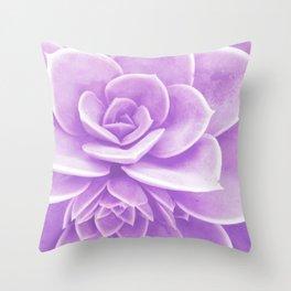 Purple Succulent Reflection Throw Pillow