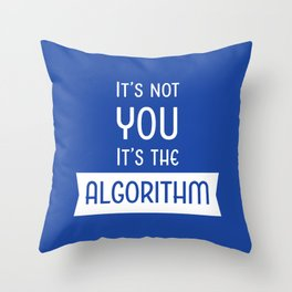 Social Media Algorithm Blues Throw Pillow