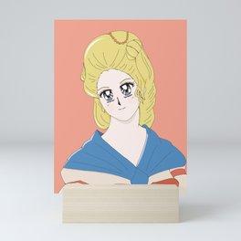 18th Century Woman's Portrait - Anime Style Mini Art Print