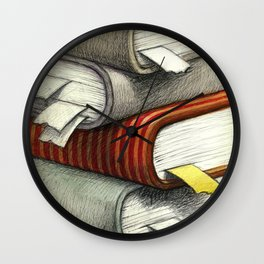 Active books Wall Clock