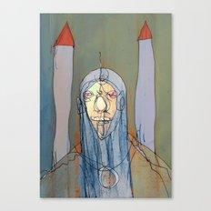 Daniel Rocket Moon Canvas Print