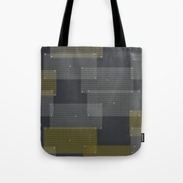 White and yellow circular grates Tote Bag