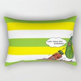 Vegetables' daily life on Planet V 01  Rectangular Pillow