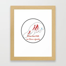 manatee with life Framed Art Print