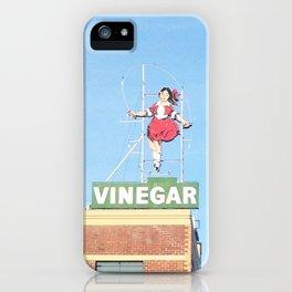 Skipping girl vinegar sign iPhone Case