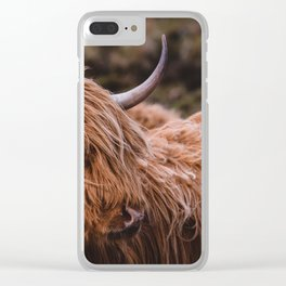 Highland Coo Clear iPhone Case