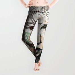 No Hope In Sight: Orange (tattoo girl portrait) Leggings