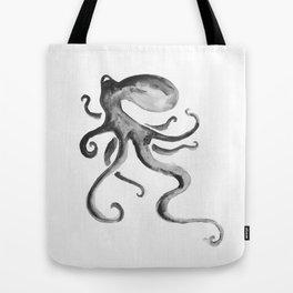 Sumi Ink Octopus Tote Bag