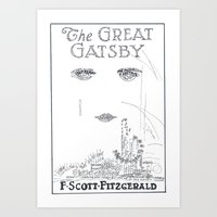 great gatsby Art Prints featuring The Great Gatsby by S. L. Fina