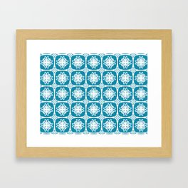 Blue Medallion Framed Art Print