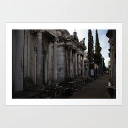 Recoleta Cemetery (Argentina) Art Print