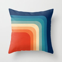 Retro 70s Color Palette III Throw Pillow