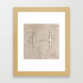 HORSE BITS III Framed Art Print