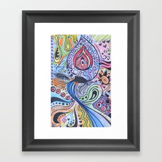 paint Framed Art Print