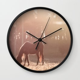 Sunset Graze Wall Clock