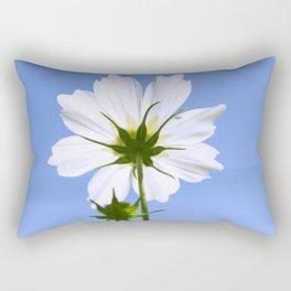 White Cosmos Flower Rectangular Pillow