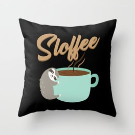 Sloffee | Coffee Sloth Throw Pillow