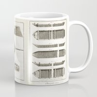 boats Mugs featuring Boats by Le petit Archiviste