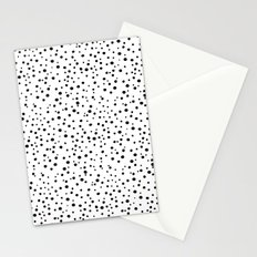 PolkaDots-Black on White Stationery Cards