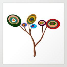 Arbol de colores Art Print