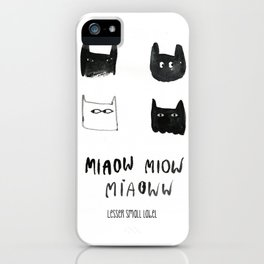 miaow iPhone Case