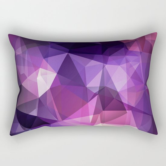 Stylish geometrical print with polygonal triangles Rectangular Pillow
