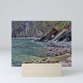 Hartland Quay Cliff Face Devon Mini Art Print