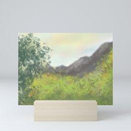 Mountains in Spring Mini Art Print